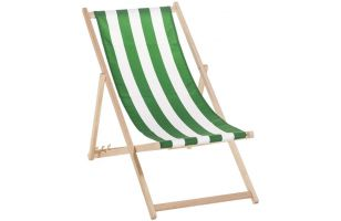 Deck chair 120 - green stripes - 7019