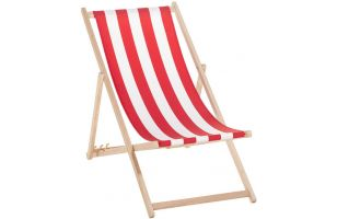 Deck chair 120 - red stripes - 7019
