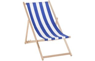Deck chair 120 - blue stripes - 7019