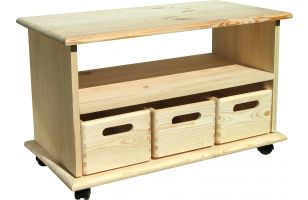Utility table with 3 removable boxes and shelf - 1503