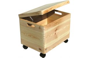 Chest on wheels with lid - 8012