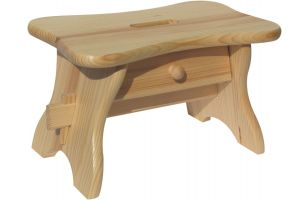 Footstool with drawer - 8536